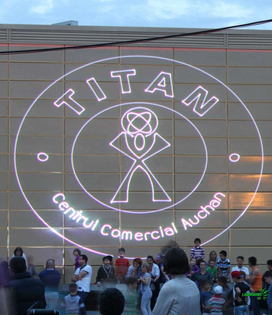 Titan mall Bucharest Laser Logo Projection